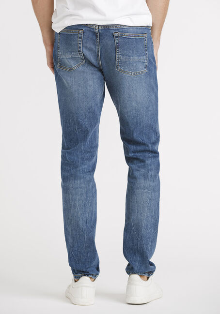 Men's Vintage Wash Skinny Jeans, MEDIUM WASH, hi-res