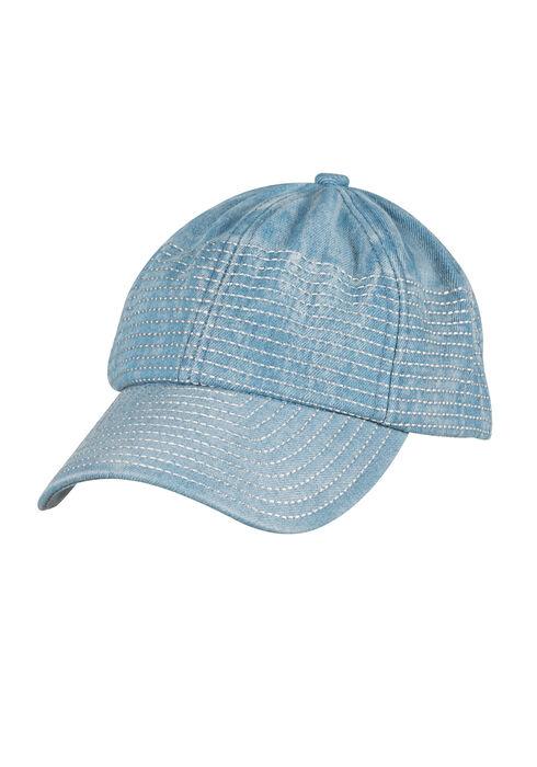 Ladies' Denim Baseball Hat, LIGHT WASH, hi-res