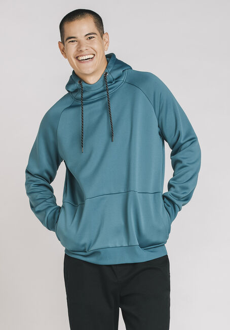 Men's Classic Pop Over Hoodie, STEEL BLUE, hi-res