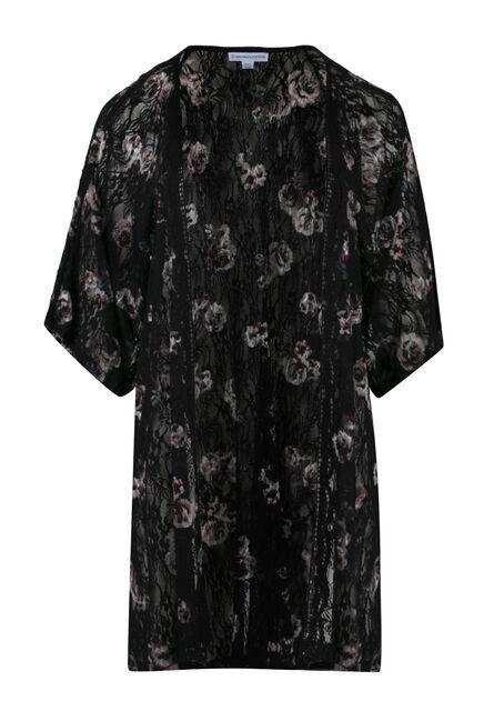 Ladies' Floral Lace Kimono