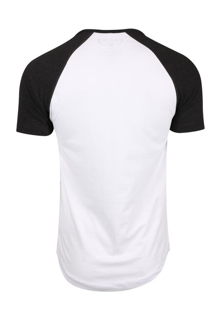 Men's True North Baseball Tee, WHITE, hi-res