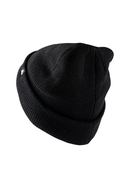 Men's Thermal Hat, BLACK, hi-res