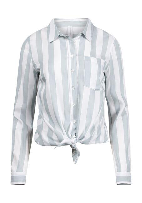 Women's Striped Tie Hem Shirt