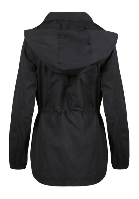 Ladies' Utility Rain Jacket, BLACK, hi-res