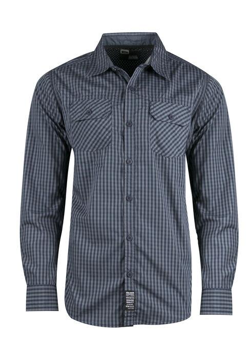 Men's Plaid Shirt, NAVY, hi-res
