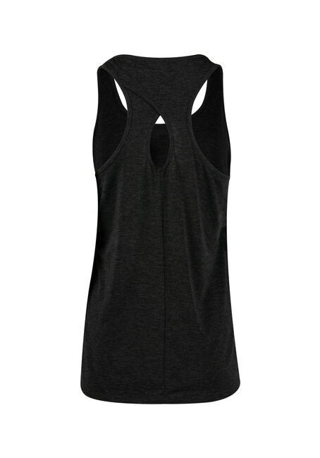 Women's Geo Moon Keyhole Tank, CHARCOAL, hi-res