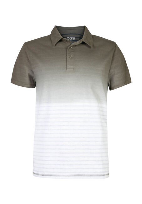 Men's Ombre Stripe Polo