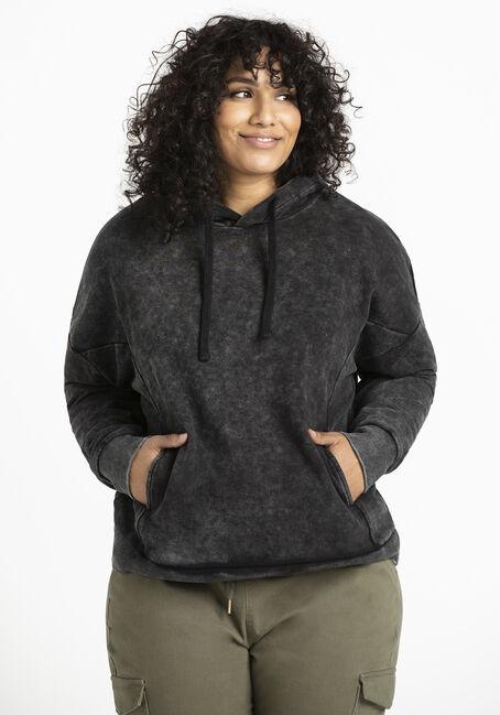Women's Washed Black Hoodie