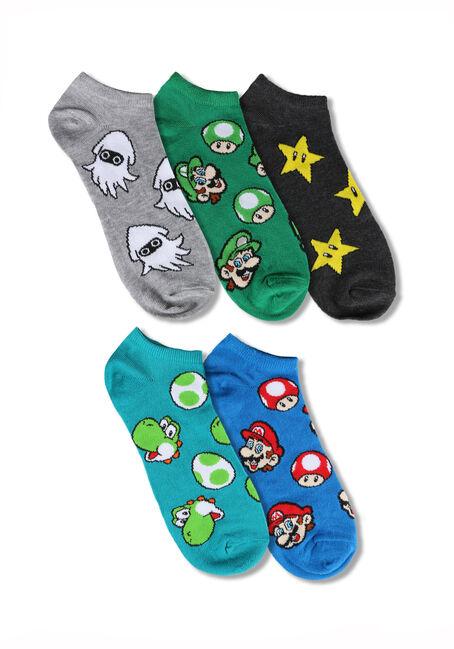 Men's 5 Pair Super Mario Socks
