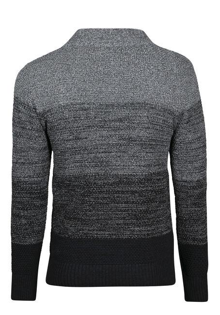 Men's Ombre Sweater, CHARCOAL, hi-res