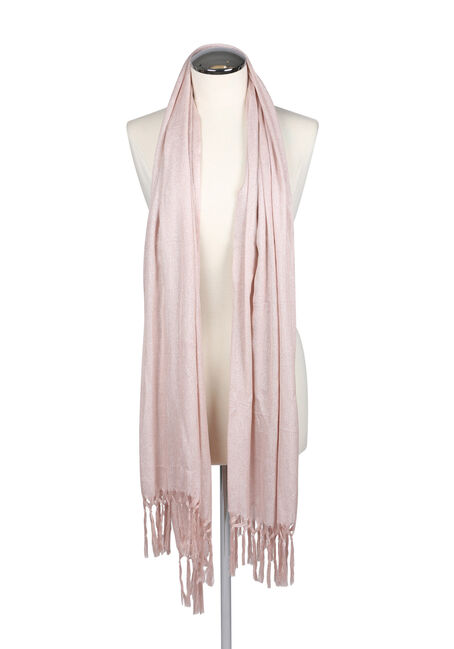 Ladies' Shimmer Shawl, PINK, hi-res
