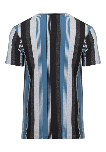 Men's Striped Tee, IRON BLUE, hi-res