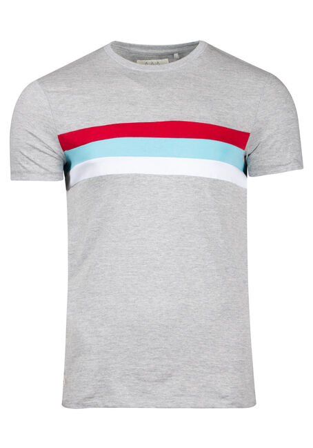 Men's Stripe Crew Neck Tee