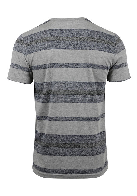 Men's Everyday Striped Tee, HEATHER GREY, hi-res