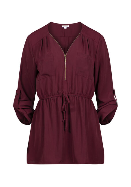 Women's Zip Front Blouse