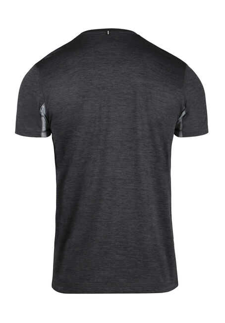 Men's Colour Block Athletic Tee, CHARCOAL, hi-res