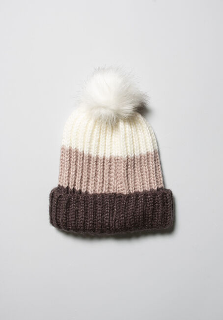 Women's Colour Block Hat, NATURAL, hi-res