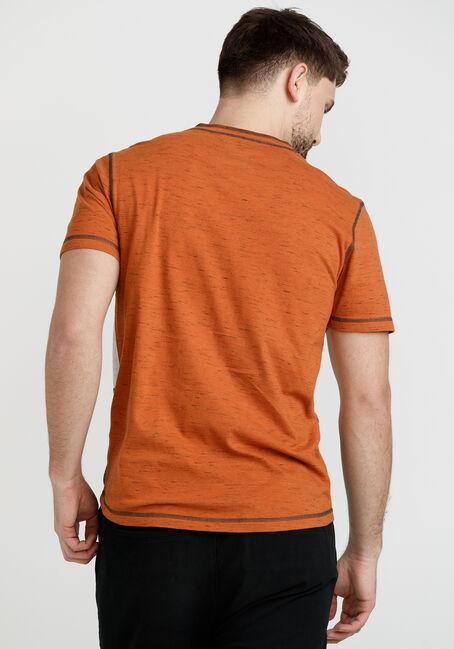 Men's Short Sleeve Colourblock Henley, BASIN, hi-res