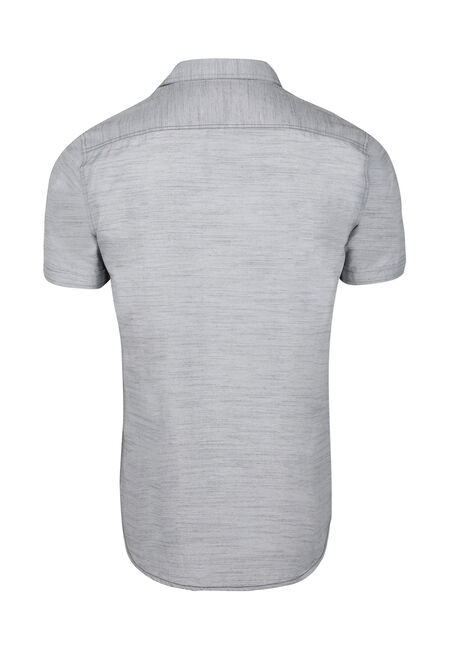 Men's Textured Shirt, LIGHT GREY, hi-res