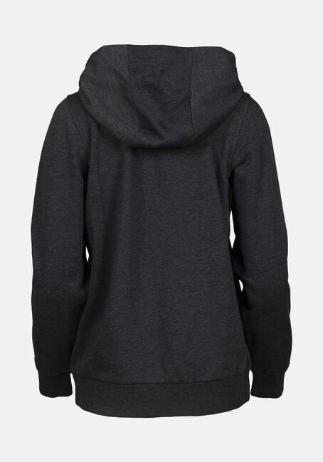 Women's Zip Front Hoodie, CHARCOAL, hi-res