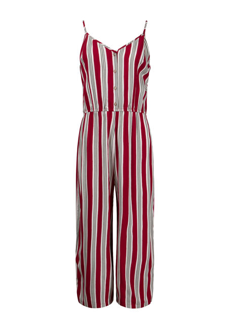 Women's Striped Tie Jumpsuit