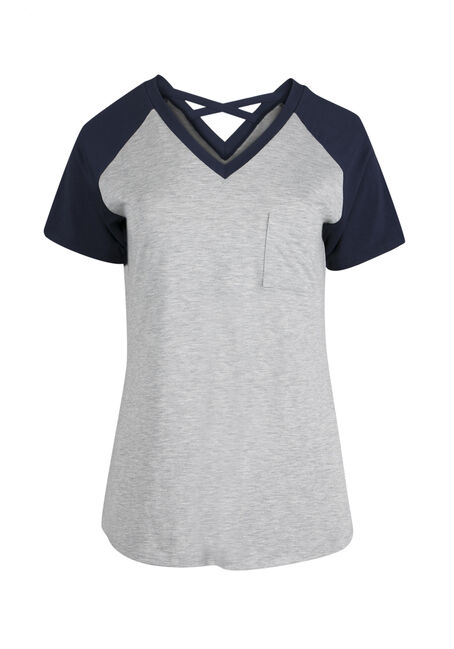 Ladies' Cross Back Baseball Tee