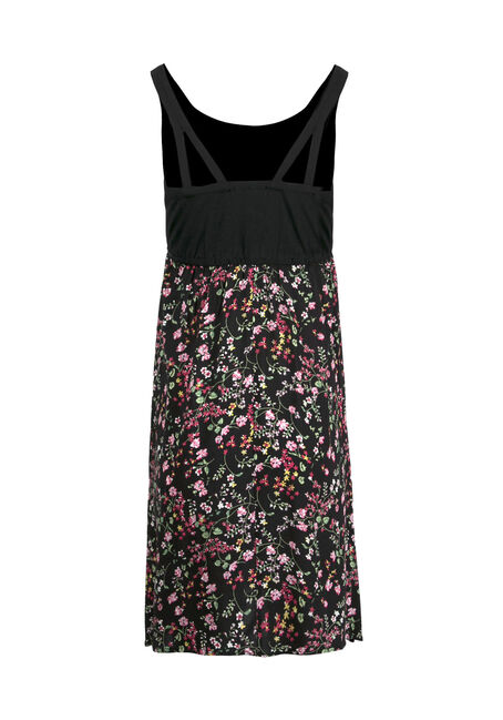 Women's Ditsy Floral Tank Dress, BLACK, hi-res