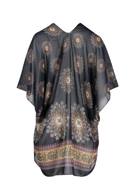 Ladies' Sun Burst Kimono, NAVY, hi-res