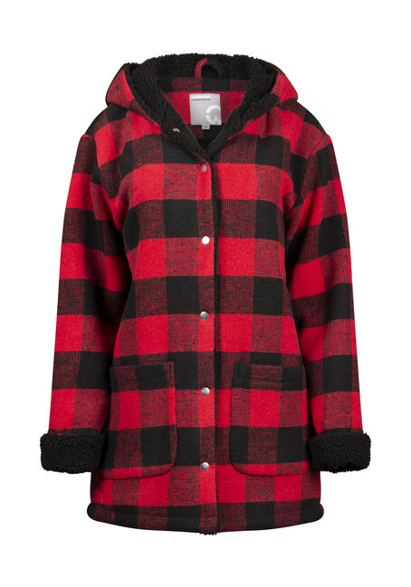 Women's Buffalo Plaid Coat