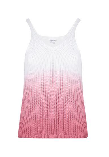 Women's Dip Dye Sweater Tank, WATERMELON, hi-res