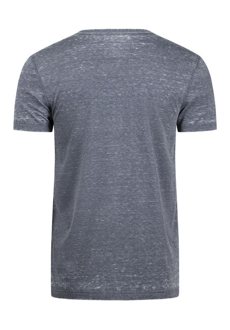 Men's Everday Burnout Split V-Neck Tee, MIDNIGHT NAVY, hi-res
