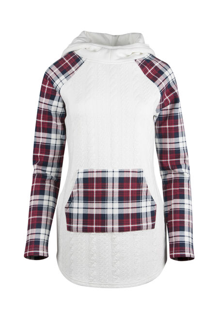 Ladies' Plaid Baseball Hoodie