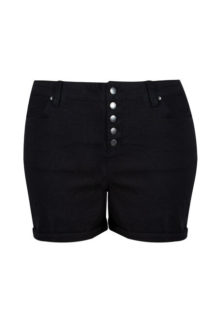 Women's Plus High Rise Button Fly Short