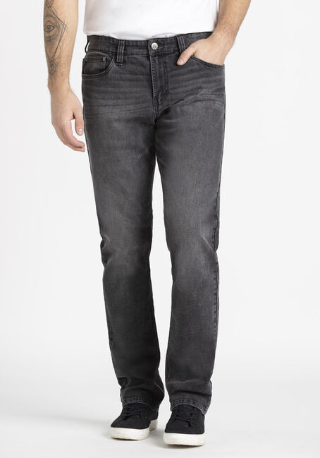 Men's Washed Black Slim Fit Jean