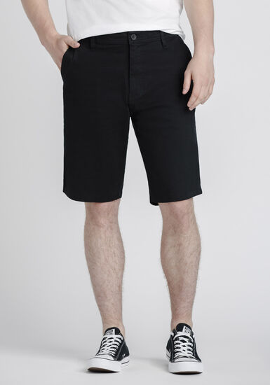 Men's Chino Shorts, BLACK, hi-res
