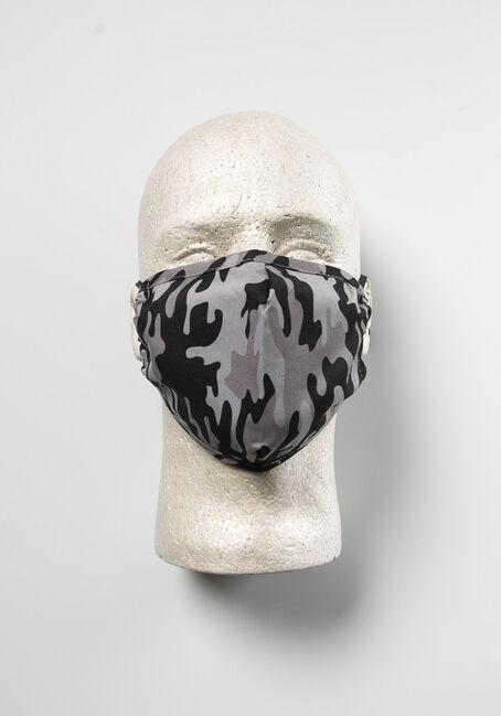 Grey Camo Face Mask
