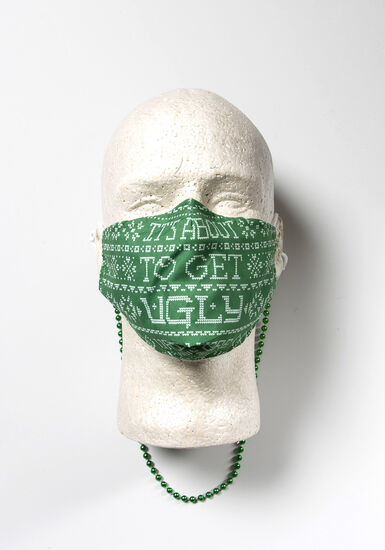 Face Mask Beaded Chain, GREEN, hi-res