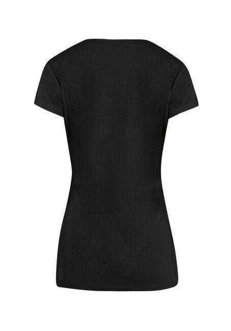 Ladies' In With The Booze Tee, BLACK, hi-res