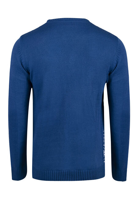 Men's Snowmies Musical Sweater, ROYAL BLUE, hi-res