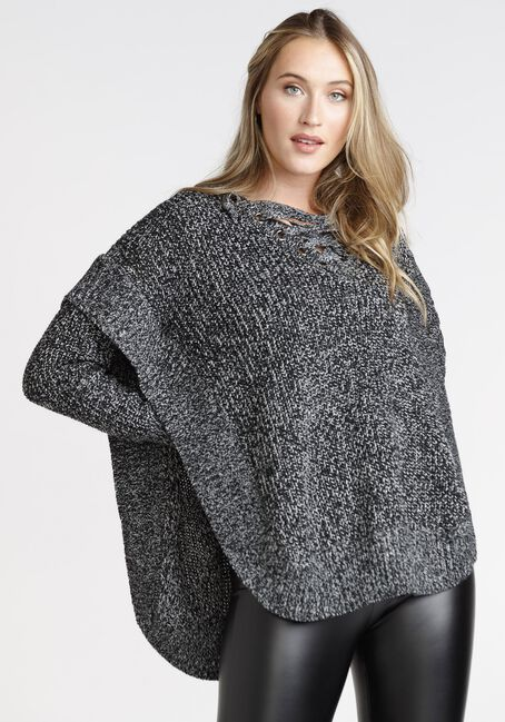 Women's Lace Up Poncho