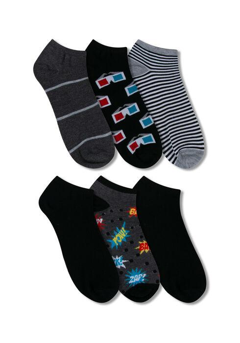Men's 6 Pair Pow Socks, RED, hi-res