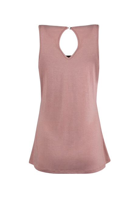Ladies' Sequin Mesh Tank, BLUSH, hi-res