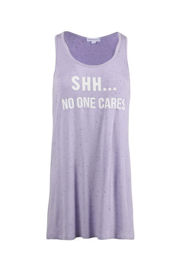 Women's Shh No One Cares Tank, LAVENDER, hi-res