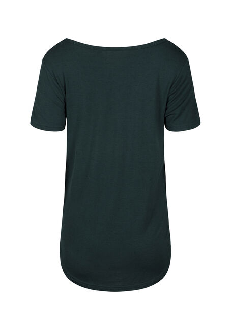 Women's Speckle V-Neck Tee, FOREST, hi-res