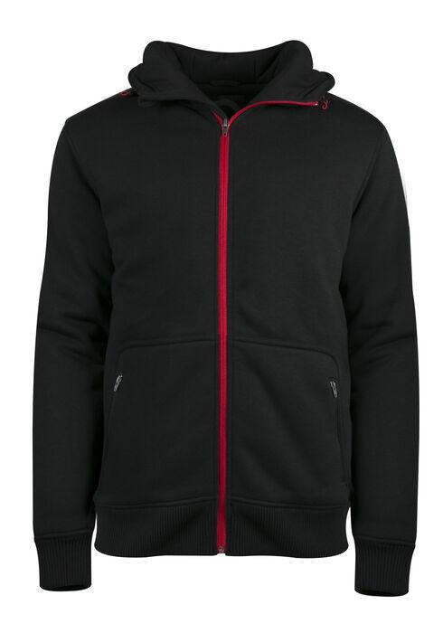 Men's Fleece Jacket, BLACK, hi-res