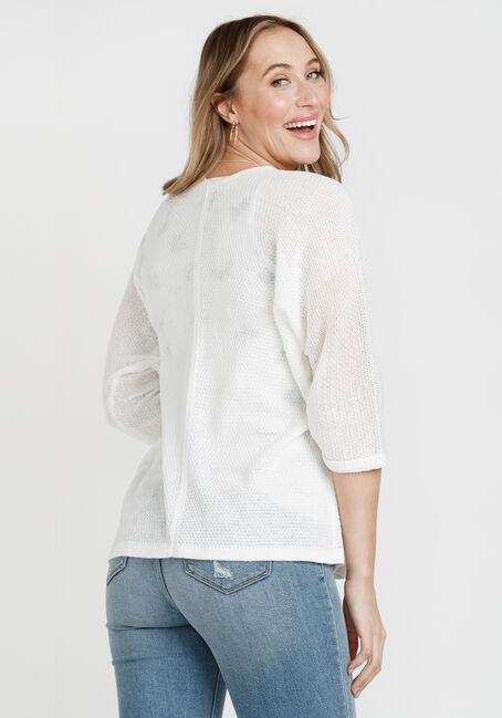 Women's Dolman Sleeve Cardigan, WHITE, hi-res