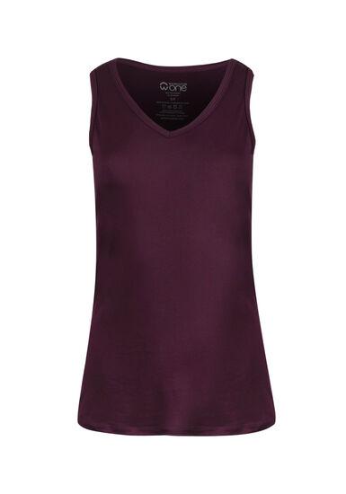 Women's V-neck Tank, DEEP ORCHID, hi-res