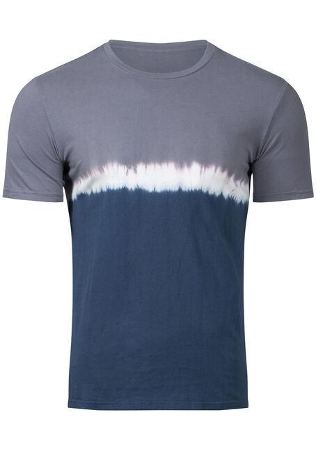 Men's Colour Block Tie Dye Tee