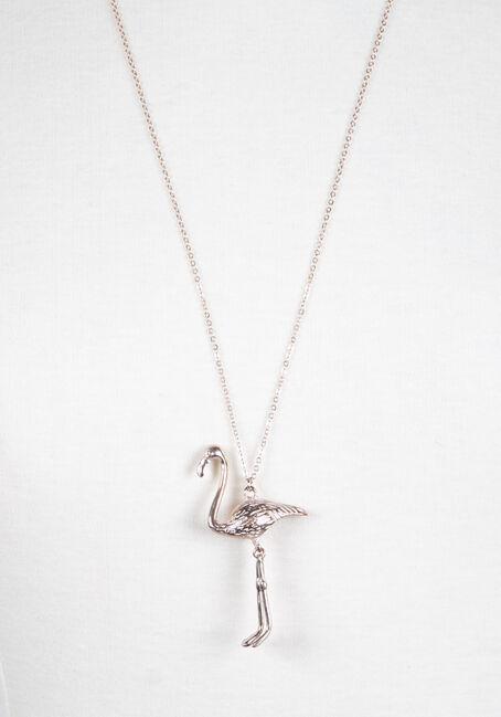 Ladies' Flamingo Necklace, ROSE GOLD, hi-res