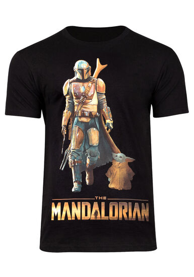 Men's Mandalorian Tee, BLACK, hi-res